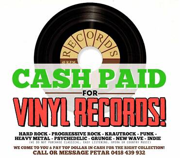 "Wanted: WANTED: VINYL RECORDS  LP'S 7"" & 45'S - WE COME TO YOU WITH $$$$$"