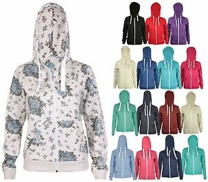 Womens-Zip-Up-Hoodie-Ladies-Long-Sleeve-Sweatshirt-Fleece-Hoody-Hooded-Jacket