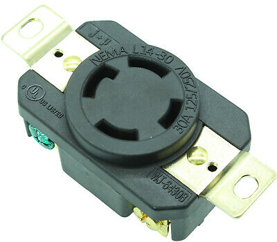 Jpro 2710 30 Amp 125-250 Volt Locking Receptacle Outlet L14-30r Twist Lock