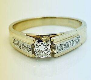 14k Damond wedding set engagement  ring