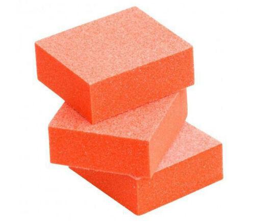 40pc Nail Buffer Sanding Buffer Blocks 80/80 Grit Orange Buffer White Grit