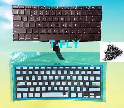 "New OEM Apple MacBook Air 13"" A1369 A1466 2011-2015 Keyboard + Backlight + Screw"