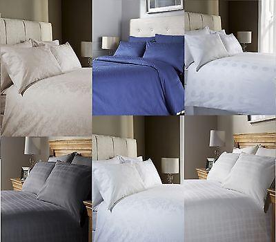 Jacquard-400-thread (JACQUARD 400 THREAD COUNT 100% COTTON DUVET QUILT COVER BEDDING BED SET)