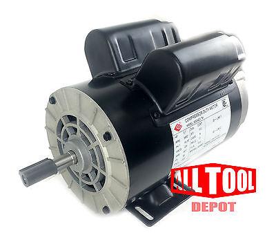 3.7 Hp Single Phase Spl 3450 Rpm 56 Frame 230v 17.2amp 58 Shaft Nema Motor