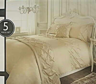 Karina Bailey Mink Rouched Detail  5 Piece Double Bed Set