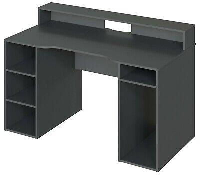 Mesa gaming Ozone color gris reversible hueco torre escritorio gamer 88x136x67cm