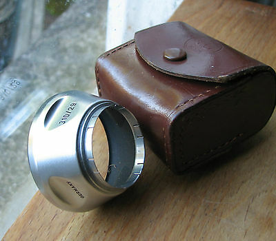 genuine  voigtlander 29mm push fit Lens hood # 310/29 & generic case