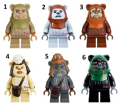 Star Wars Universe Forest Soldier Ewok Custom Lego Mini Figure Teddy Bear Guard