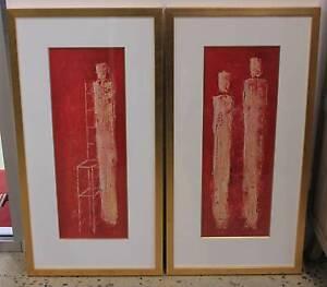 Set of 2 Gold Framed Prints #2065 Beverley Charles Sturt Area Preview