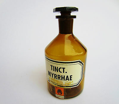 antike alte Apothekerflasche, Tinct. Myrrhae