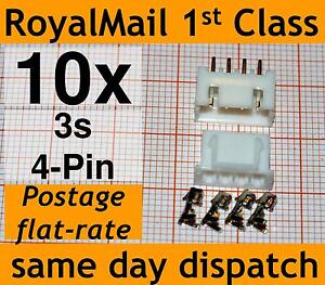 10x JST-XH connector plug for Lipo 2s 3s 4s 5s 6s Balance Extension male female