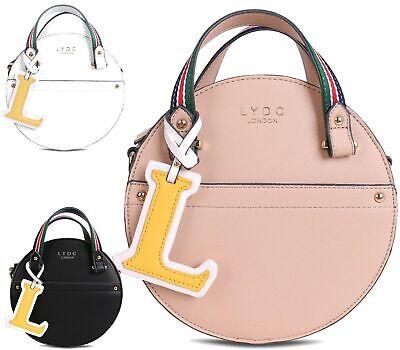 Modische Einkaufstaschen (Damen Kunstleder Designer Lydc Doppelriemen Rund Modische Einkaufstasche Stecker)