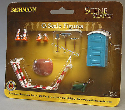 BACHMANN O GAUGE BUILDING SITE ACCESSORIES Barriers fence train people 33164 NEW
