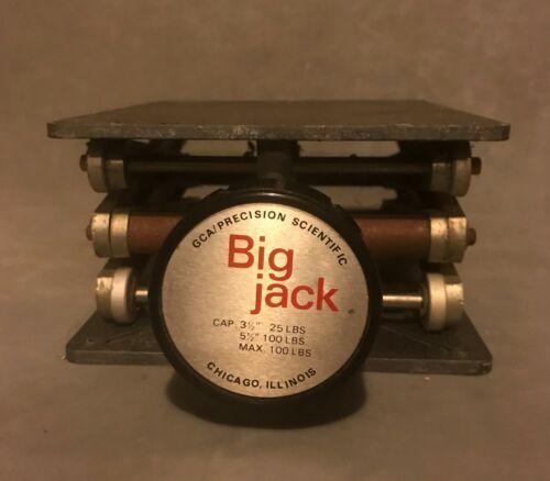 """GCA Precision Scientific Big Jack Lab Jack; 6 x 7"""" Platform, Extends to 12"""" High"""