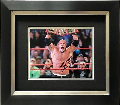 BILL GOLDBERG HAND SIGNED FRAMED PHOTO DISPLAY WWE LEGEND 1.