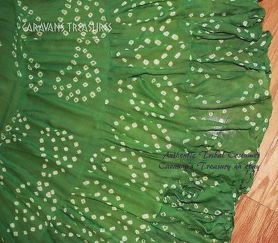 Jaipur Green - Grass Green Jaipur Wrap Skirt Gypsy Tribal Fusion Belly Dancel ATS
