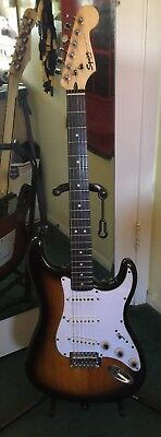 Fender Squier Bullet Strat Electric Guitar Clean with upgrades