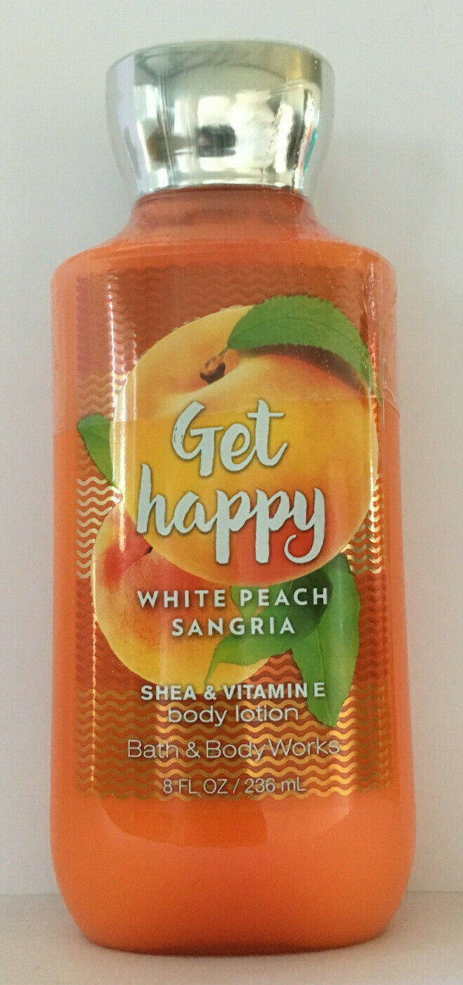 Bath & Body Works GET HAPPY WHITE PEACH SANGRIA BODY LOTION