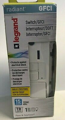Legrand - Pass Seymour 1595swttrwcc4 15a Gfci White Switchreceptacle