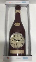 "16"" Wine Bottle Shaped Wall Clock Maroon Elegant Kitchen Bar Light Weight Decor"