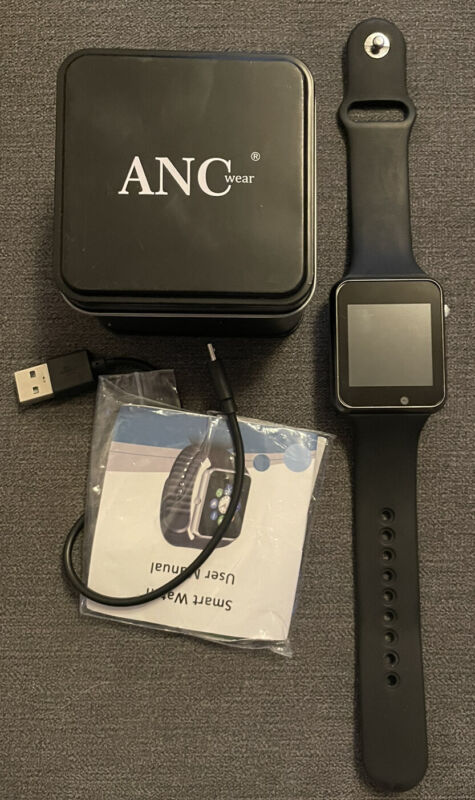 Fitness+Enke+A1+Black+Watch+ANCwear+Bluetooth+Smart+Watches+with+Heart+Monitor