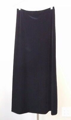 Alex Evenings Womens Long Black Stretch Velvet A-Line Skirt Size Large Stretch Velvet Long A-line