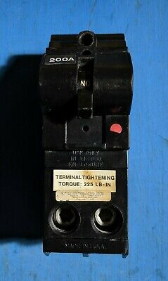 Md2200 - Murray 200a Amp 2p Pole 240v Md-a Mda Main Circuit Breaker - Used