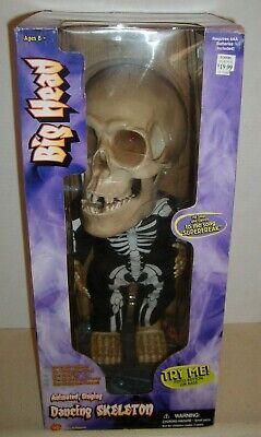 """New In Box Gemmy Animated Singing Big Head Dancing Skeleton Sings """"Super Freak"""