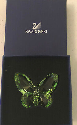 "Swarovski Crystal Green Butterfly Figurine 2-5/8"" across"