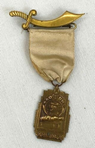 1934 Shriners Minneapolis Imperial Council Session Medal