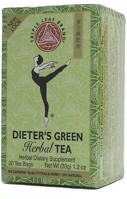 Triple Leaf Tea, Dieters Green Herbal Tea, 20 tea bags Net 33g-FREE SHIPPING