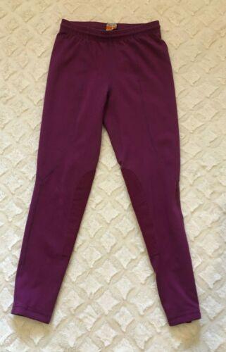 Kerrits Breeches girls kids purple maroon EXCELLENT large 23