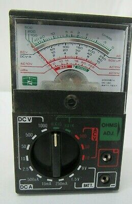 Equus 13-range Analog Acdc Multimeter 3001 Ohms Ac Dc Voltage Battery Test