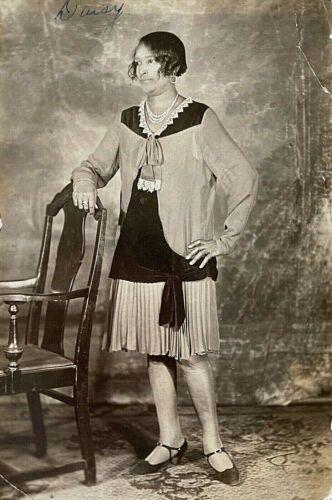 ORIGINAL - BEAUTIFUL AFRICAN AMERICAN LADY named DAISY - PHOTOGRAPH c1920