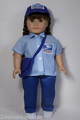 POSTAL Mailman USPS Work Costume Uniform Doll Clothes For 18 American Girl (Debs](Postal Costume)