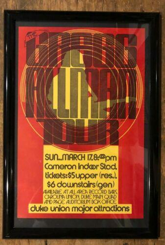 allman brothers     gregg allman  1970s tour poster framed