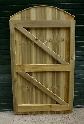 Convex Closeboard Garden Gate MADE TO EXACT WIDTH YOU REQUIRE 6ftH x up to 3ftW