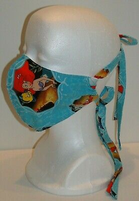 The Little Mermaid Adult (Disney The Little Mermaid 100% Cotton Adult Face Mask Filter Pocket)