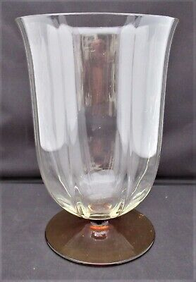 Bohemian/Czech glass vase or coupe, c1910, manner of Moser/Josef Hoffmann