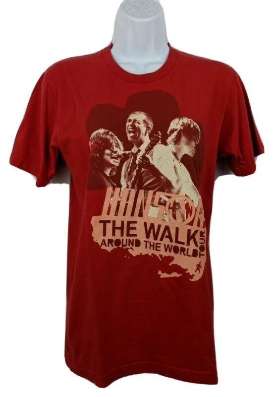 Hanson Walk Around The World Tour 2008 Concert T Shirt Red S