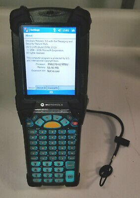 Symbol Motorola Mc9090-gf0sjefa69r Wireless Barcode Scanner W Battery No Stylus