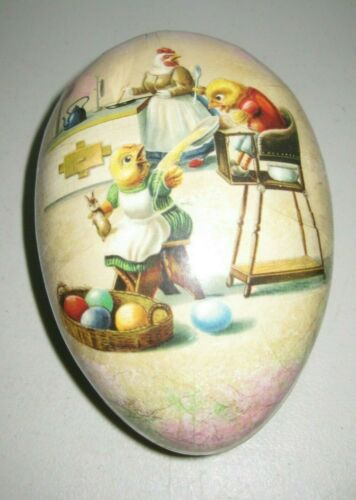 A Very Large Vintage Germany Paper Mache Easter Egg Candy Container