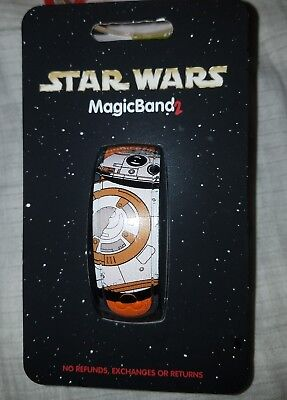 NEW Disney Parks BB-8 Droid Magic Band 2 Star Wars Orange Link It Later