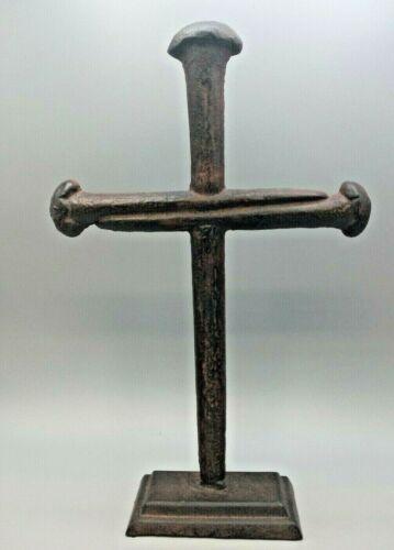 Cast Iron Cross Free Standing Simplistic Black & Brown