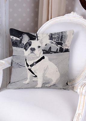 Dekokissen Gobelin Kissen französische Bulldogge Bully Dekokissen Kissenhülle - Französisch Quadratische Kissen