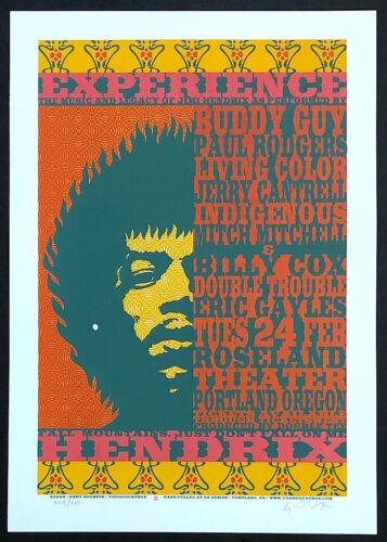 MINT & SIGNED Jimi Hendrix Roseland Portland Gary Houston Poster 230/250