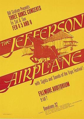 MINT Jefferson Airplane Trips Festival 1966 BG 1 FIRST Fillmore Poster