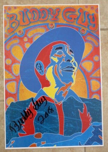 Buddy Guy Blues Signed Autographed Poster Lithograph 13x19 BAS Certified #5