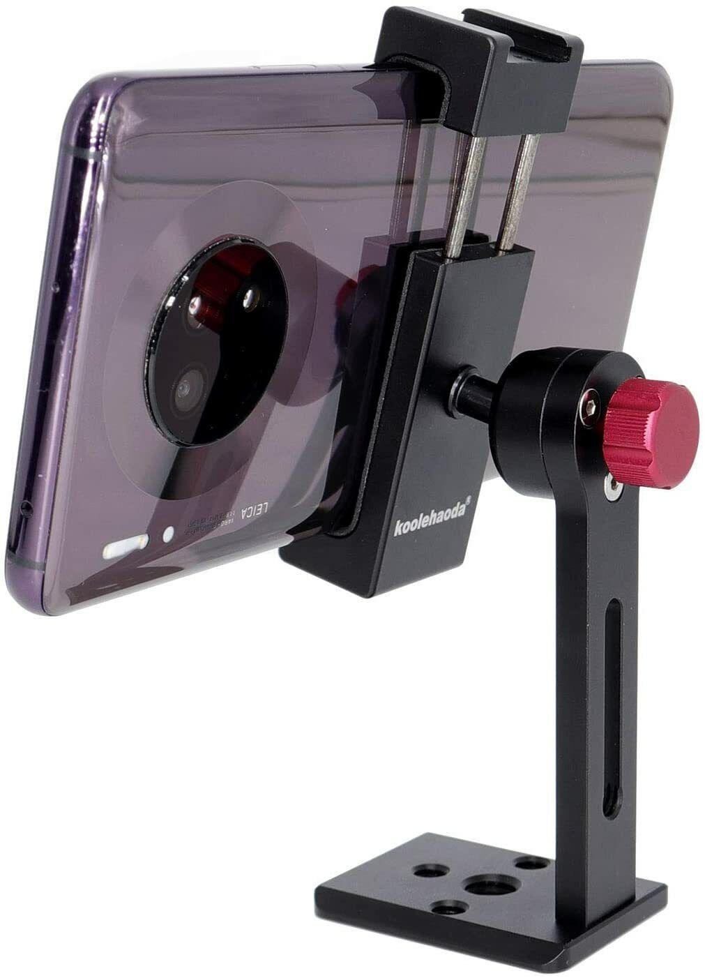 Koolehaoda Phone Tripod Mount Adapter with Cold Shoe, Smartp