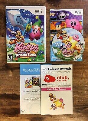 Nintendo Wii KIRBY'S RETURN TO DREAMLAND Complete w/ Case Manuals Inserts CIB